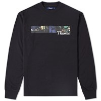 Thames Long Sleeve Piccadilly Tee Black