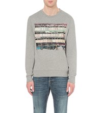 Tiger Of Sweden Hubertz Print Cotton Sweatshirt Grey