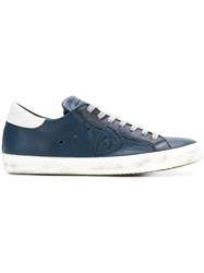 Philippe Model Classic Low Top Sneakers Blue