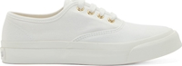 Maison Kitsune White Canvas Low Top Sneakers