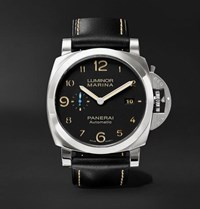 Officine Panerai Luminor Marina 1950 3 Days Acciaio 44Mm Stainless Steel And Leather Watch Black