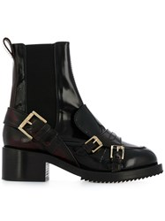 N 21 No21 Burnout Effect Elasticated Boots Red