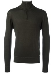 C.P. Company Cp Zipped Turtleneck Jumper Brown