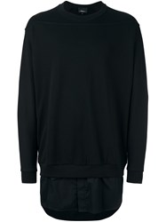 3.1 Phillip Lim Shirt Tail Sweatshirt Black