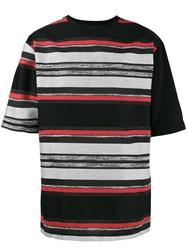 Ex Infinitas Graphite Stripe T Shirt Cotton Nylon Polyester L Black