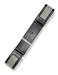 Lafayette 148 New York Wide Italian Leather Belt Black