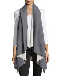 Raison D'etre Hooded French Terry Flyaway Vest Off White