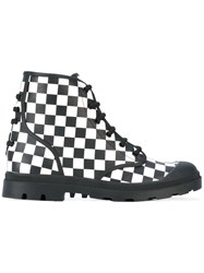 Givenchy Checkerboard Boots Men Calf Leather Leather Rubber 43 Black