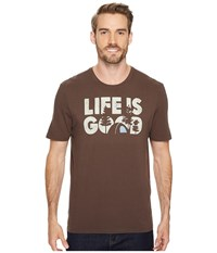 Life Is Good R Campground Smooth Tee Rich Brown Men's Short Sleeve Pullover