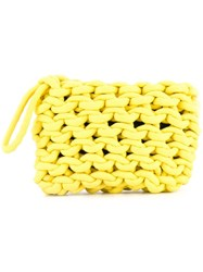 Alienina Braided Clutch Bag Yellow