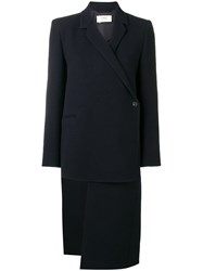 Ports 1961 Asymmetrical Structured Coat Blue