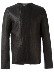 Tony Cohen Textured Biker Jacket Black