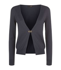 Peserico Open Front Cardigan Female Blue