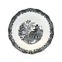 Burleigh Black Willow Cake Plate 28Cm