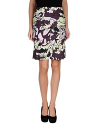 Laura Urbinati Knee Length Skirts Purple