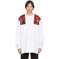 Raf Simons White Oversized Patches Sweatshirt