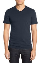 Men's Velvet By Graham And Spencer 'Samsen' V Neck T Shirt Midnight Blue