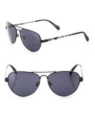 Toms Maverick 201 59Mm Solid Aviator Sunglasses Dark Grey