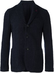Lardini Three Button Blazer Blue