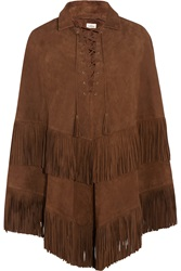 Talitha Fringed Suede Cape