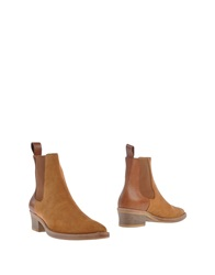 High Ankle Boots Camel