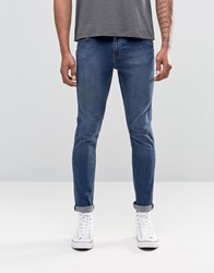 Cheap Monday Jean Tight Skinny Fit Mid Blue Wash Blue