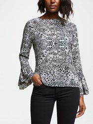 Lily And Lionel Ella Snake Print Blouse Nude Multi