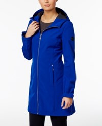 Calvin Klein Hooded Water Resistant Lightweight Raincoat Chaotic Blue