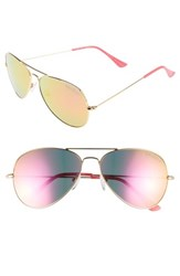 Lilly Pulitzer Lexy 59Mm Polarized Aviator Sunglasses Hot Pink
