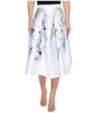 Ted Baker Petale Passion Flower Full Skirt Ivory Women's Skirt White