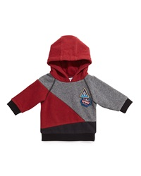 Little Marc Jacobs Hooded Colorblock Pullover Sweater Red Gray Black Size 18M 3
