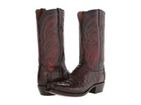 Lucchese M2692 Barrel Brown Hornback Caiman Cowboy Boots