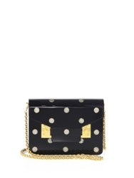 Sophie Hulme Compton Studded Leather Wristlet Black