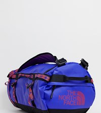 The North Face Base Camp Duffel Bag Small 50 Litres In Geo Tribal Blue Blue