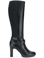 Geox Buckled Knee Length Boots Black