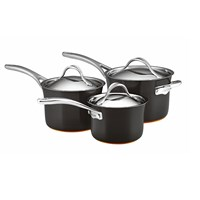 Anolon Nouvelle Copper 3 Piece Set 16Cm 18Cm And 20Cm Saucepans