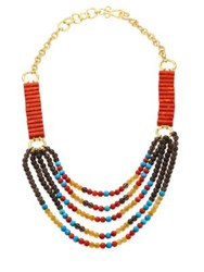 Stephanie Kantis Jepang Semi Precious Multi Stone Necklace Coral Multi
