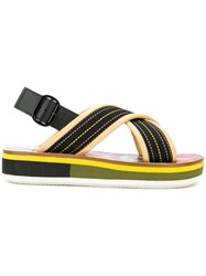Marni Open Toe Sandals Black