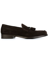 Doucal's Tassle Loafers Brown