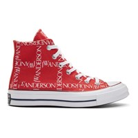 J.W.Anderson Jw Anderson Red Converse Edition Grid Logo Sneakers