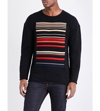 Nudie Jeans Ethnic Stripe Pure Cotton T Shirt