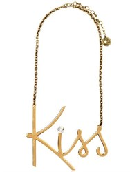 Lanvin Kiss Gold Plated Brass Necklace