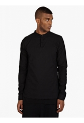 Thom Krom Men's Black Double Layered Tunic Shirt