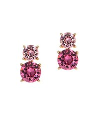 Anne Klein Swarovski Crystal Drop Earrings Pink