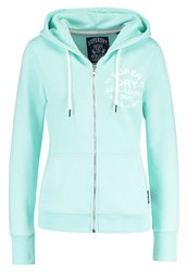 Superdry Athletic League Tracksuit Top Soft Mint Marl