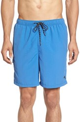 Tommy Bahama Men's Big And Tall 'Happy Go Cargo' Swim Trunks Pool Blue