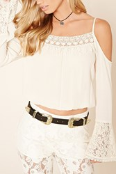 Forever 21 B Low The Belt Two Buckle Belt