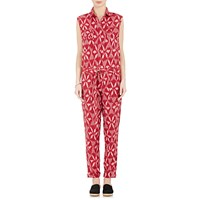 Fabric Hunted And Collected Ikat Jumpsuit Red Pat.