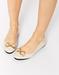 Melissa Feeling Bow Ballet Pumps Cream