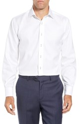 Lorenzo Uomo Trim Fit Solid Dress Shirt White
